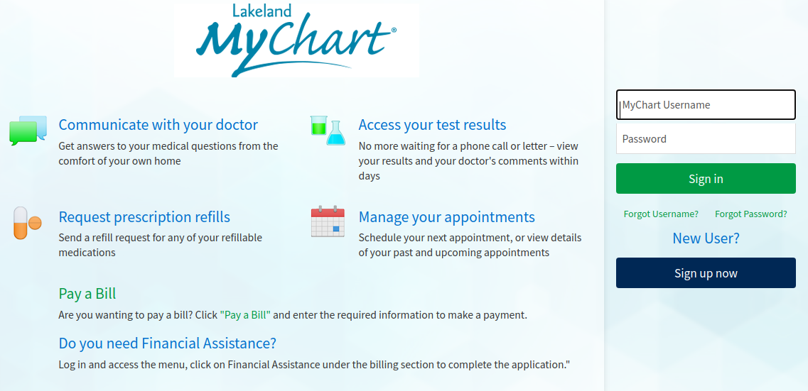 mychart lakeland login