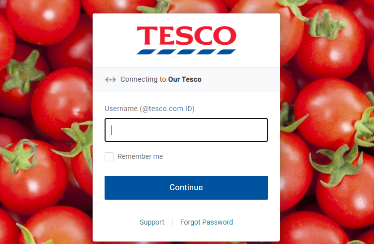 tesco benefits login